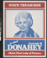 Gertrude Donahey campaign poster