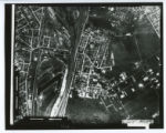 Steel mill town aerial photograph