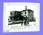 Bellefontaine, Ohio Big Four Railroad Depot After the Fire Photograph