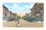 Bellefontaine Columbus Avenue Automobiles Postcard