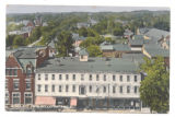 Bellefontaine Bird's Eye View Logan Hotel Postcard