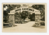 West Liberty Ohio Caverns Entrance Postcard