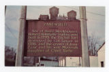 Zanesfield Roadside Historical Marker Postcard