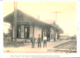 Lakeview, Ohio T & OC Railroad Depot Photograph