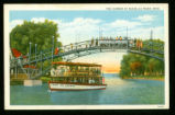 Indian Lake Harbor, Russells Point, Ohio Postcard