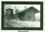 Zanesfield, Ohio T & OC Railroad Depot Photograph