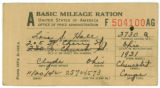 Basic Mileage Ration Card 1942