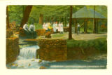 Artesian Well, Chautauqua Grounds, Greenspring, Ohio, Postcard 1914