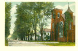 Broadway South From Presby. Church, Greenspring, Ohio, Postcard
