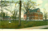 Defiance College campus postcard