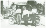 Mail carriers delivering chickens