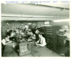 Triplett Electrical Instrument Company engineering department photograph - 1945
