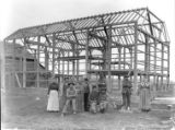 Jacob Liechty barn construction photograph