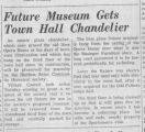 Bluffton Town Hall chandelier article