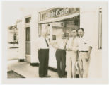 Exterior view of White Castle number 22 with White Castle employees, St. Louis, Missouri