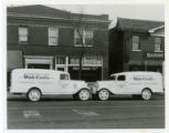 White Castle delivery trucks for buns and pastry, St. Louis, Missouri