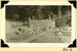 Fort Hill, latrines stone wall construction photograph