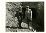New Straitsville two men at mine tunnel photograph