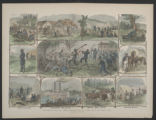 'The Negro In The War - Various Employments of the Colored Men in the Federal Army' color...