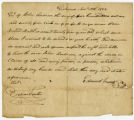 Enslaved man letter of purchase, November 12, 1822