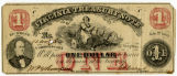 Confederate one dollar bank note