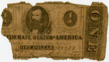 One dollar Confederate bank note