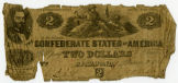 Two dollar Confederate bank note