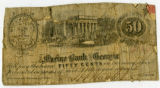 Fifty cent Confederate bank note