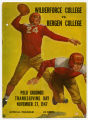 Bergen College vs. Wilberforce University souvenir football program