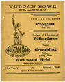 Vulcan Bowl Classic souvenir football program