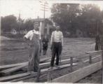 Stickles, Fred standing on Louisiana Avenue