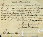 Isaac Bowman & James T Leonard letter to John Bower, Canton 7th March, 1814