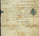 M. Thompson letter to Thomas Rotch, Steubenville, February 10th, 1814