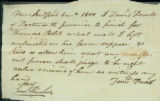 David Devoll letter to Thomas Rotch, New Bedford, 8 mo 1800