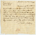 David Anthony letter to Thomas Rotch, Providence 7 da 7 mo 1796