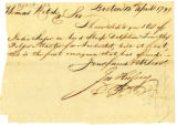 Joseph Hussey letter to Thomas Rotch, Boston, 31st May 1799