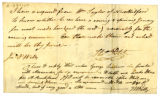 John Wells letter to Thomas Rotch
