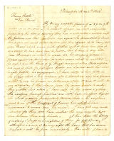 John James letter to Thomas Rotch, Philadelphia 12 mo 2nd 1818