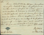 Bezaleel Wells letter to Thomas Rotch, Steubenville 25th March, 1812