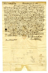 Samuel R. Fisher letter to Thomas Rotch, Philadelphia, 7 mo 8, 1820