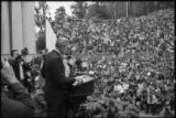 Eugene McCarthy campaigning for president