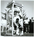 Telephone booth stuffing photograph