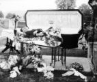 Deceased man in casket photograph