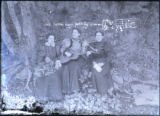 Three women in the woods photograph