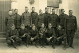 Howard Sands and NCOs of Company H, 330th Infantry in France