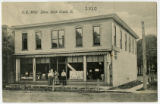 E.R. Mills' Store in Rock Creek, Ohio postcard