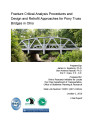 Fracture Critical Analysis Procedures and Design and Retrofit Approaches for Pony Truss Bridges in Ohio
