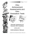 Ohio achievement assessments and Ohio graduation tests : grades 3-8 [and] OGT alternate assessment...