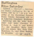 Buffington Rites Sunday