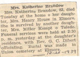 Mrs. Katherine Brandow